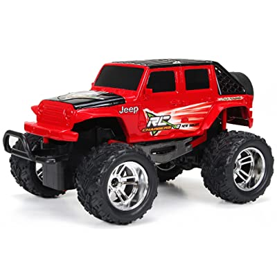 New Bright R/C Chargers F/F 4-Door Jeep Includes USB Cord and AA Batteries (1:18 Scale): Toys & Games [5Bkhe0300876]