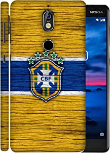 ColorKing Football Brazil 16 Yellow shell case cover for Nokia 7