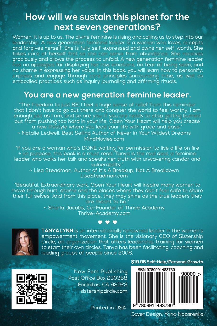 Open Your Heart: How to be a New Generation Feminine Leader: Tanya Lynn:  9780991483730: Amazon.com: Books