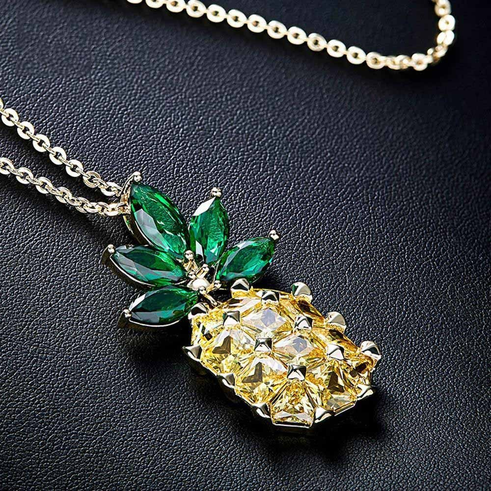 Ludage Damen zum Schmuck Halskette Ananas Pullover Kette zum Damen Muttertagsgeschenk 8f41ea