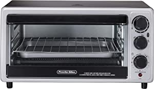 Hamilton Beach Settin Proctor Silex 31124 Toaster Oven, 6 Slice Capacity, with Toast, Bake and Broil Settings, Silver