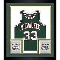 $599 » Framed Kareem Abdul-Jabbar Milwaukee Bucks Autographed Green Mitchell and Ness 1970-71 Throwback Jersey - Fanatics Authentic Certified