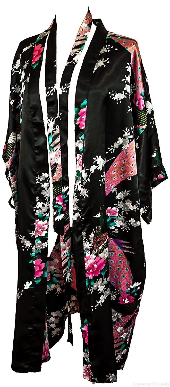 bc399aa7d8 Kimono Robe Long 16 Colors Premium Peacock Bridesmaid Bridal Shower Womens  Gift