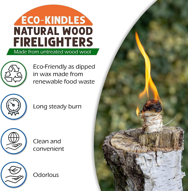 Eco-KINDLES encendedores de madera natural: Amazon.es: Bricolaje y herramientas