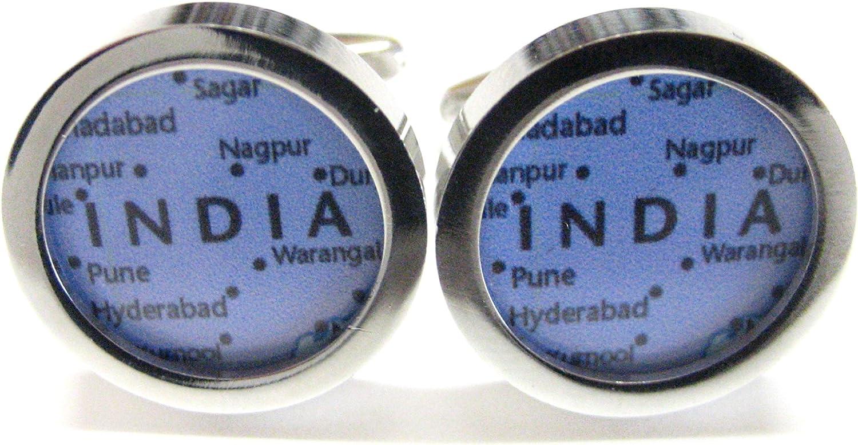 India Map Cufflinks