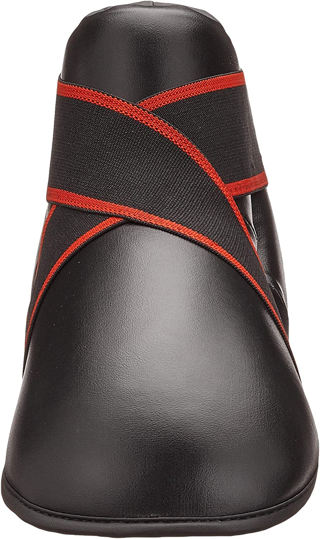 V-SPORTS Black Kickboxing Boots semi//Full Contact Kick Boxing Boots Foot pad Kids//Adult Kick Boxing Foot Pads Extra Large//Adults shoes11-13