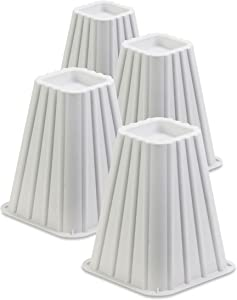 Honey-Can-Do STO-01006 Stackable Bed Risers, 4-Pack, White