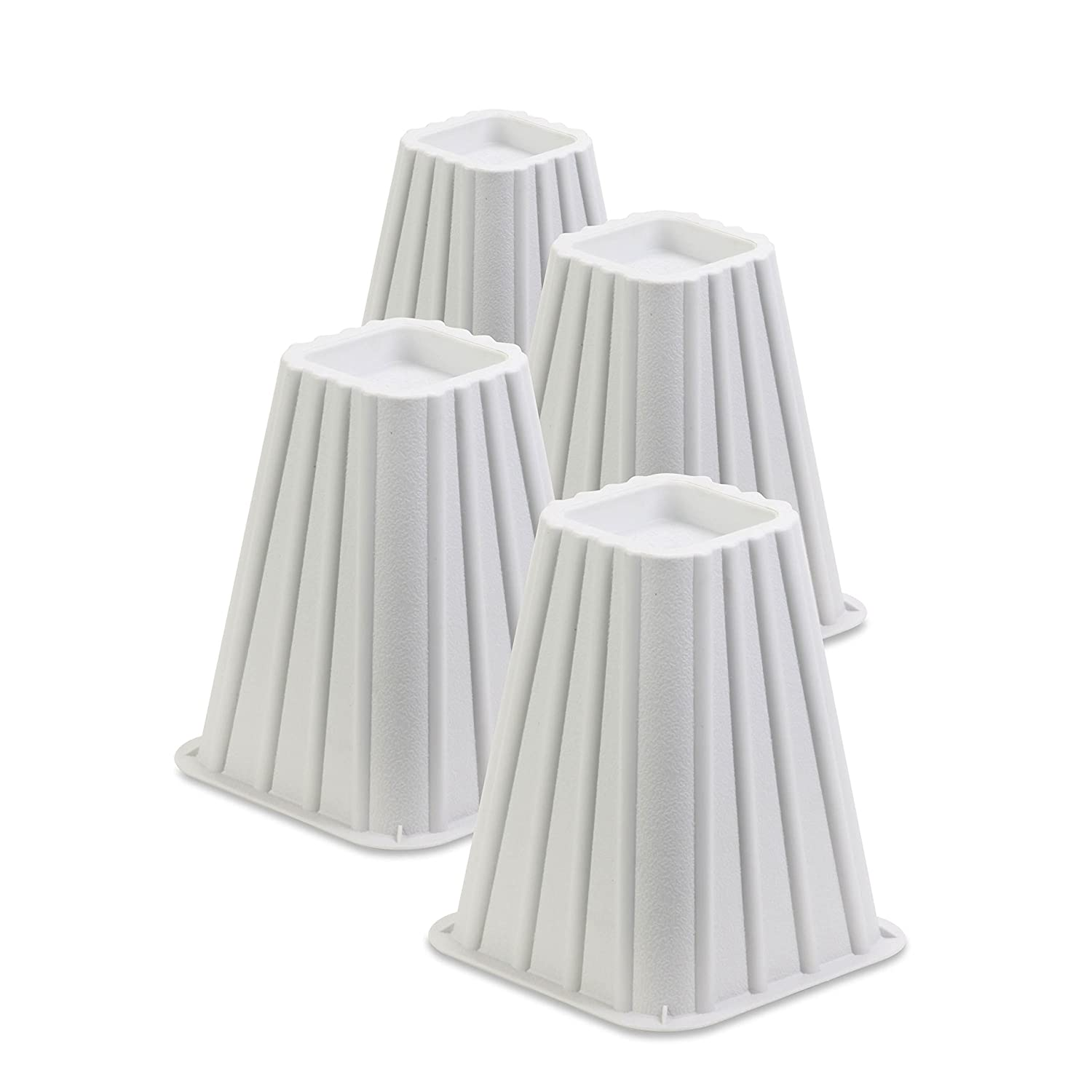 Honey-Can-Do STO-01006 Stackable Bed Risers, 4-Pack, White Honey-Can-Do International