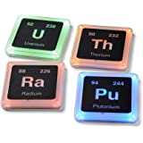 Radioactive Periodic Table Of Elements Plastic Glowing Coaster Set   Pressure Sensitive Light-Up Coaster Collection…