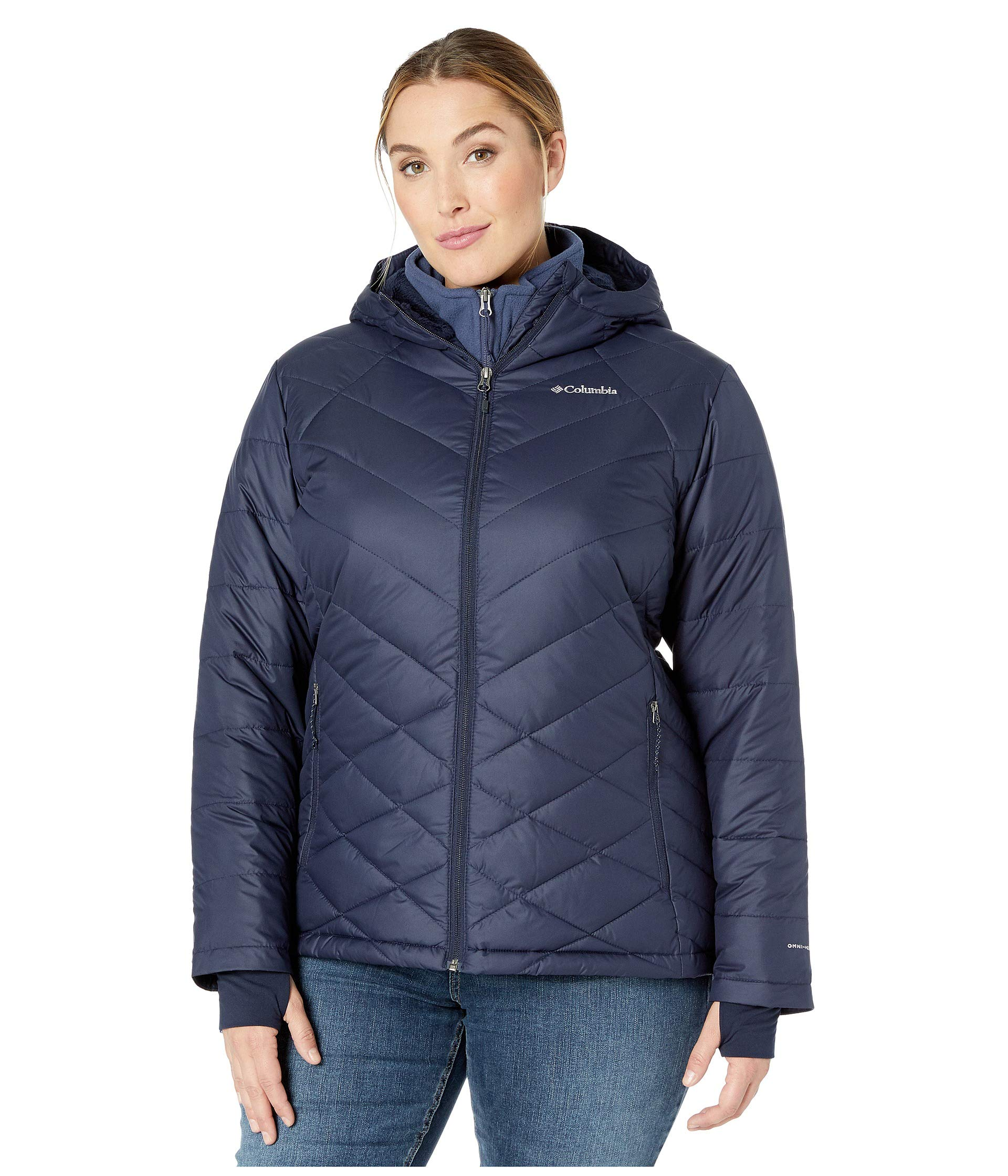 Columbia Women's Plus Size Heavenly HDD Jacket, Dark Nocturnal, 2X by Columbia