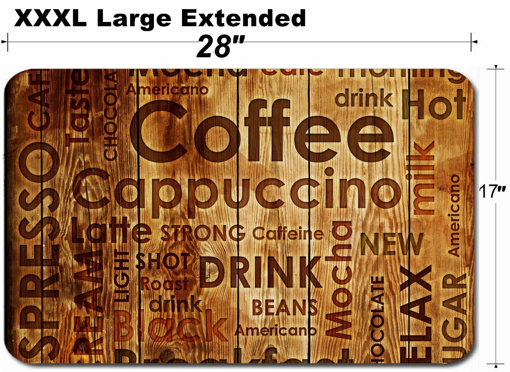 MSD Large Table Mat Non-Slip Natural Rubber Desk Pads Image 15092624 Sorts of Coffe on Wood Background