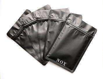 Bolsas negras mate, 10 x 15 cm, a prueba de olores, a prueba ...