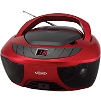 $44 » Jensen CD-475R Portable Sport Stereo Boombox CD Player with AM/FM Radio and Aux Line-in &…