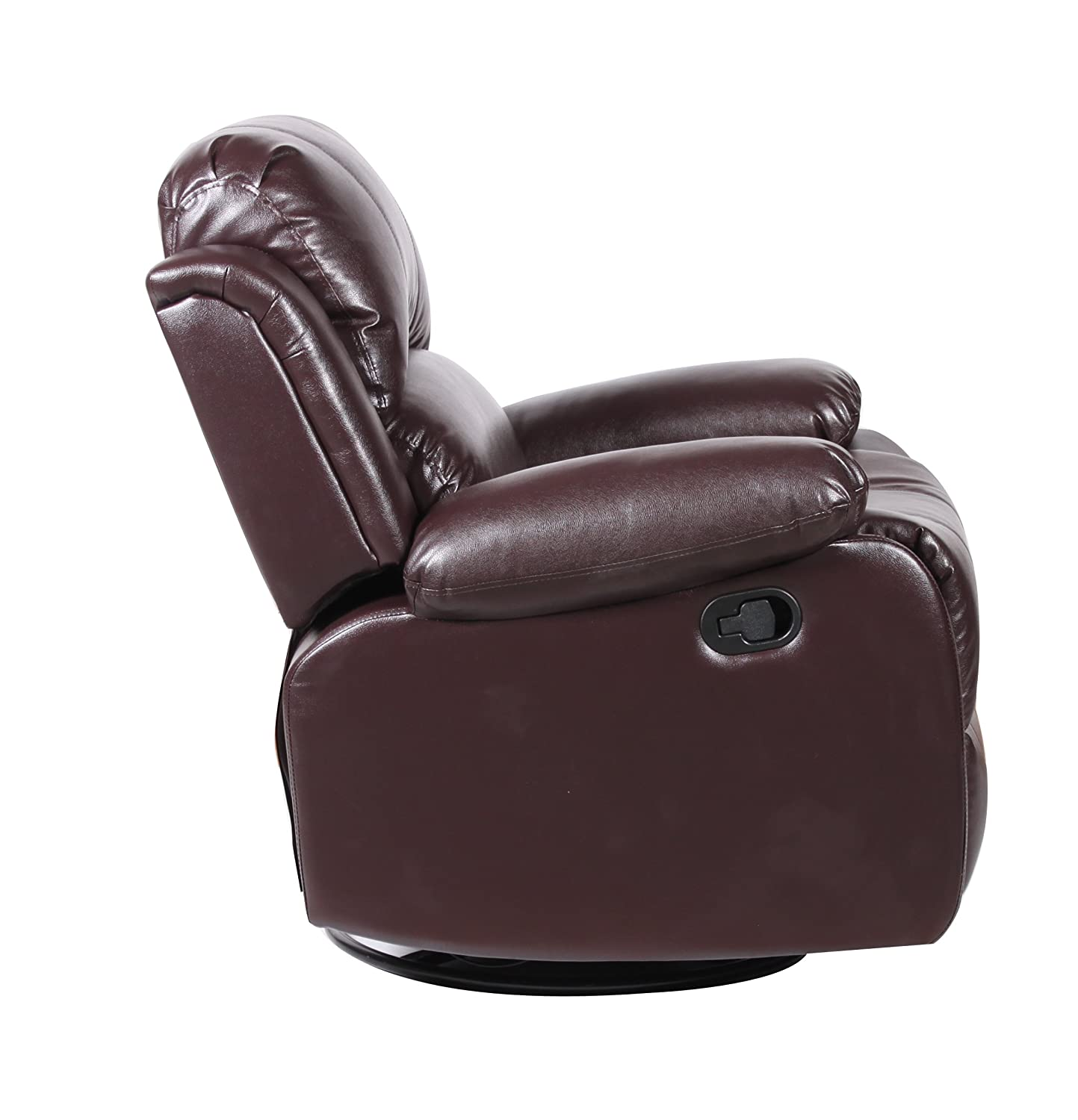 Amazon Bonded Leather Rocker and Swivel Recliner Living Room