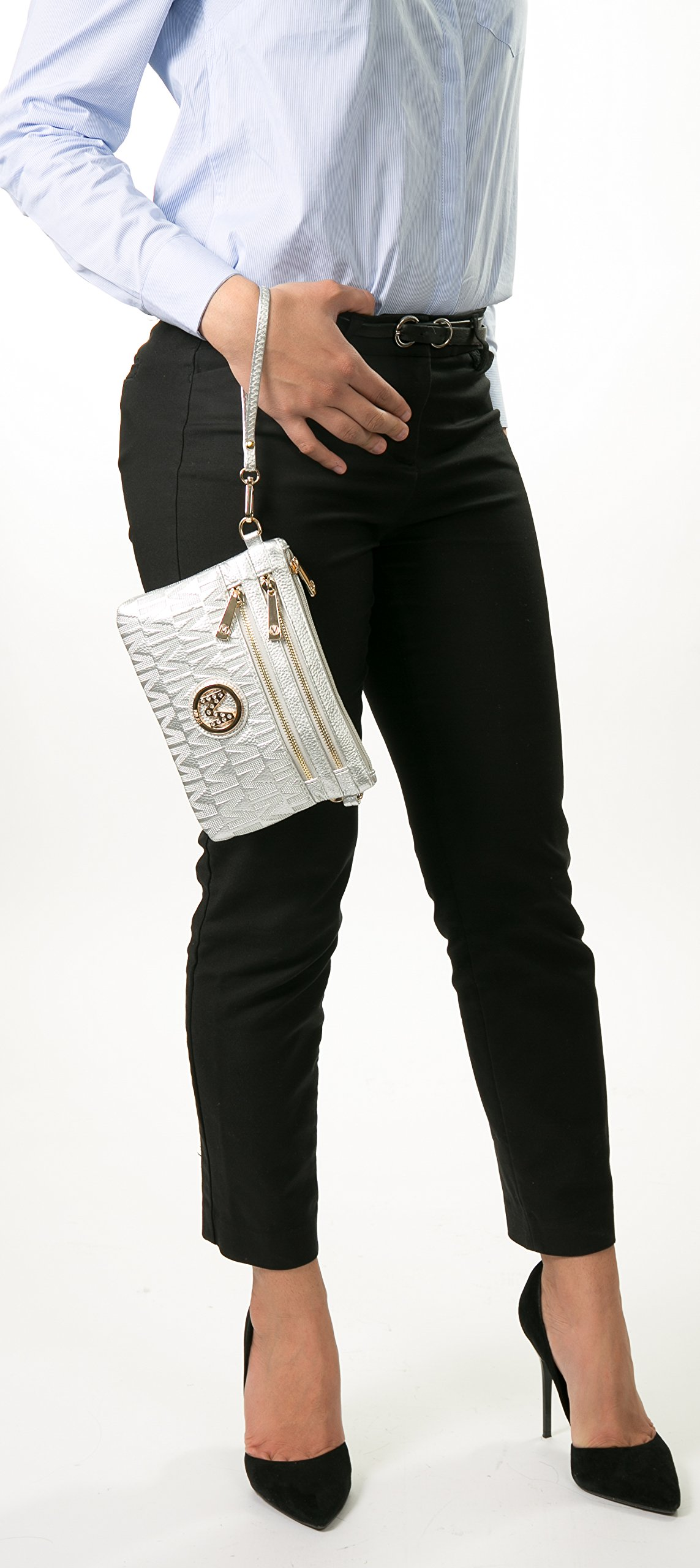Wristlet | 2-in-1 Crossbody Bags for Women | MKF Collection Roonie Milan Signature Design by MKF Collection (Image #5)