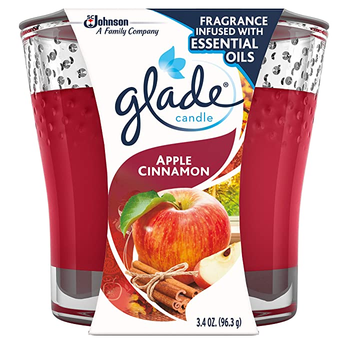 Glade Jar Candle Air Freshener, Apple Cinnamon 3.4 oz