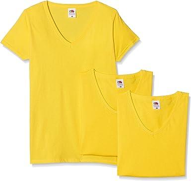Fruit of the Loom Camiseta (Pack de 3) para Mujer: Amazon.es: Ropa y accesorios
