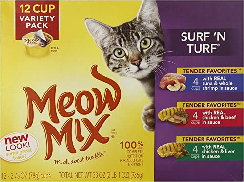 Meow Mix Surf N Turf Variety Pack Cat Food – 12 CT