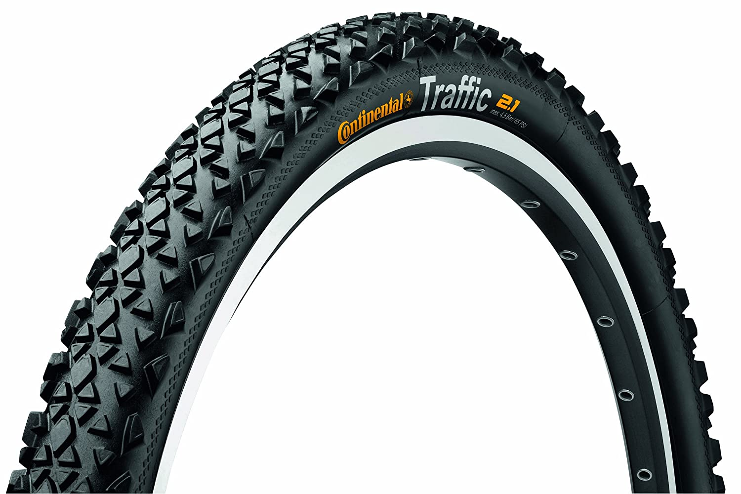 Continental Bicycle Tires >> Amazon Com Continental Traffic Bike Tire Black 26 In X 2 1