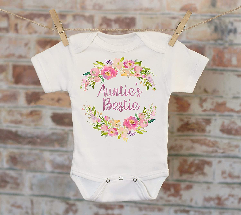 e7df139d09877 Auntie's Bestie Onesie®, Aunt Onesie, Gift For Niece, Cute Baby Bodysuit,  Cute Onesie, Boho Baby Onesie, Girl Onesie