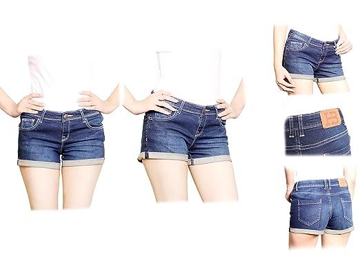 Ladies Denim Shorts (XS): Amazon.co.uk: Clothing