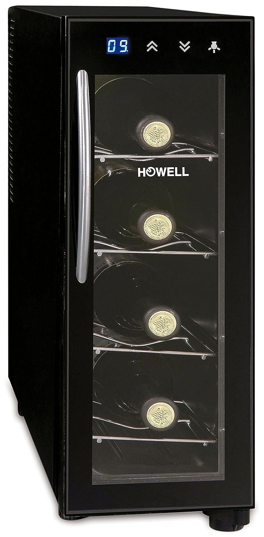 Howell HO. CV040 Cantinetta per Vino, 4 Bottiglie, Nero HO.CV040