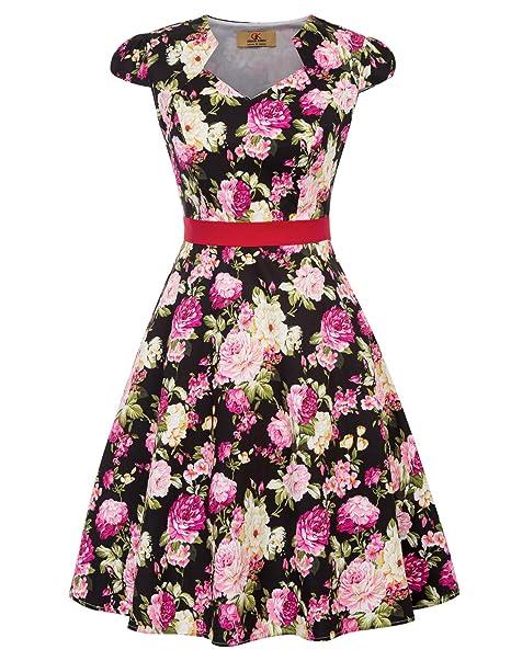 GRACE KARIN Mujer Vestido Vintage de Fiesta Corto Vestido de Cóctel S CL695-1