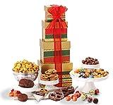 Broadway Basketeers Season Greetings Christmas Gift Tower