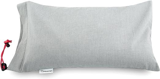 Organic Cotton Cover Everpillow by Infinitemoon- Original KAPOK 100/% Natural Kapok Fill Premium Fully Adjustable Zippered Original Queen Bed Pillow