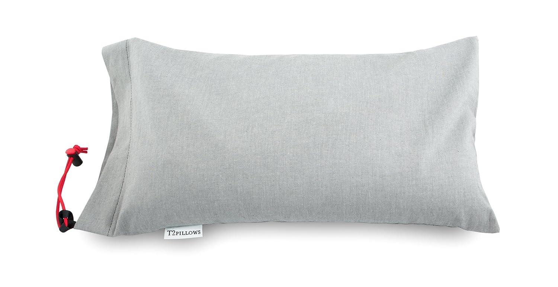 Buckwheat旅行枕100 %オーガニックコットン( 10 x 16