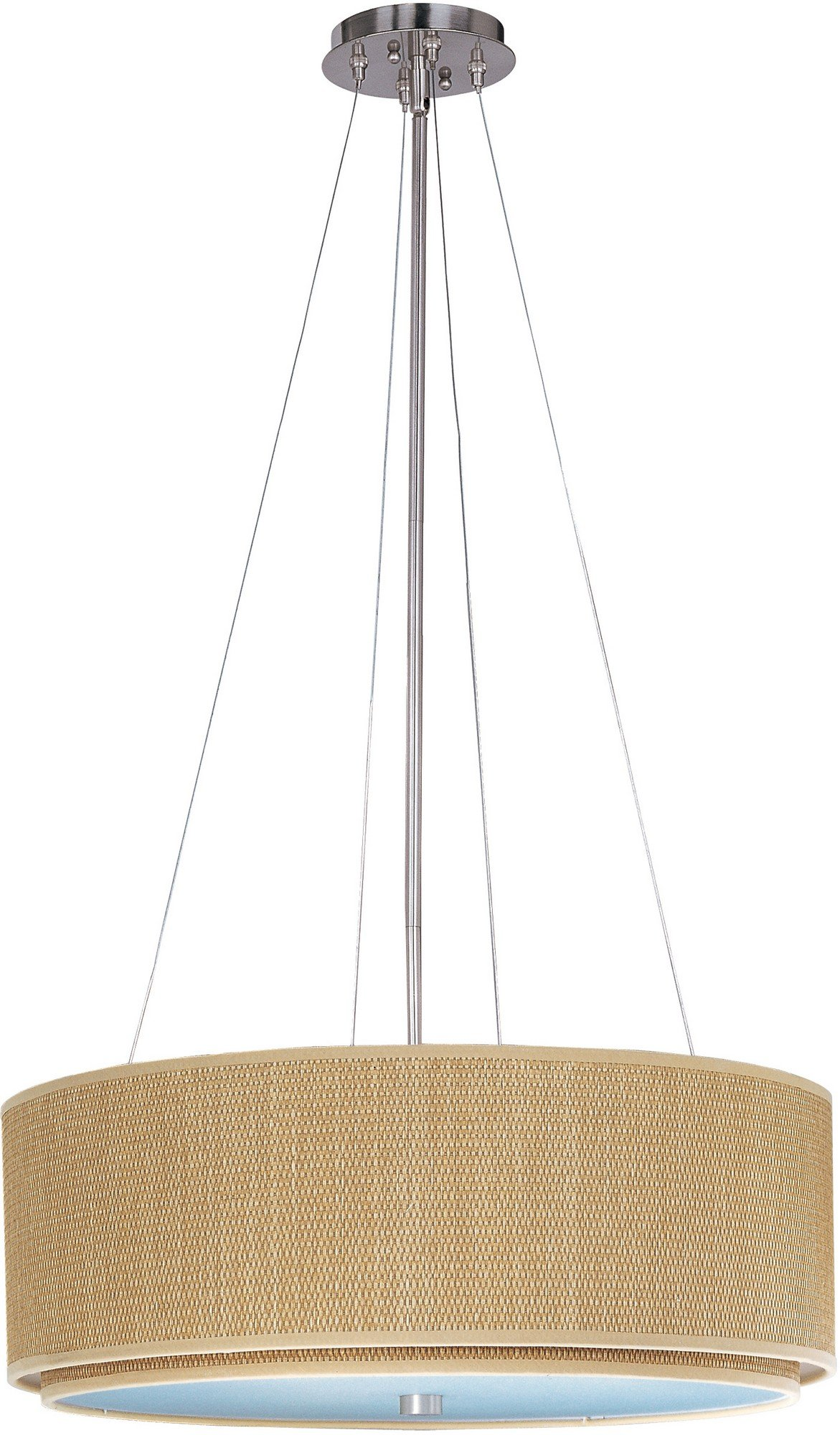 ET2 E95060-101SN Elements 3-Light Single Pendant, Satin Nickel Finish, Glass, MB Incandescent Bulb, 2W Max., Dry Safety Rated, 2900K Color Temp., Standard Dimmable, Shade Material, 280 Rated Lumens