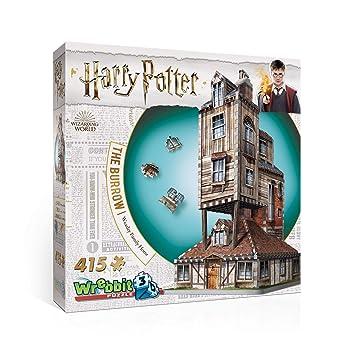 Wrebbit , Puzzle 3D Harry Potter représentant Le Terrier, la Maison des  Weasley