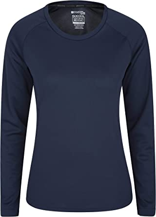 Mountain Warehouse Blusa para Mujer Endurance - Camiseta de Verano Ligera para Mujer, Manga Larga, Secado rápido, protección UV - para Viaje, Correr y Uso Diario: Amazon.es: Ropa y accesorios