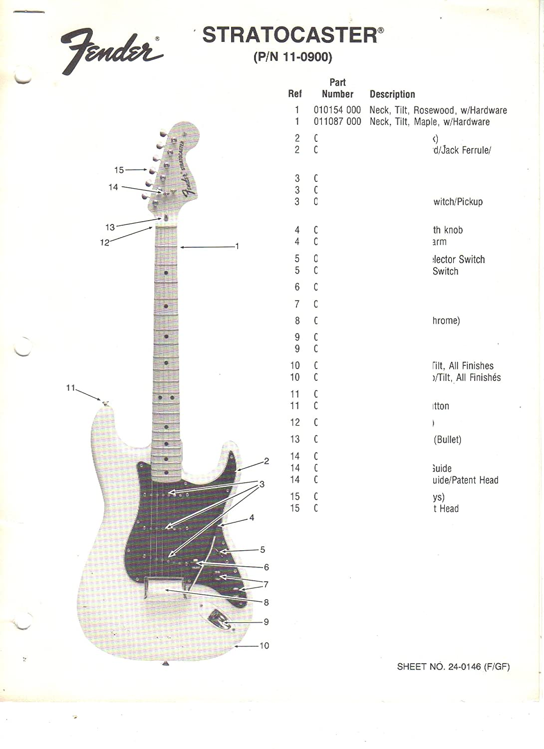 Fender Strat Plus Wiring Diagram Deluxe Stratocaster Amazon Com Ultra Electric Bass Guitar Parts Rh