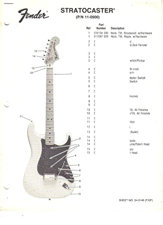 amazon com: fender jazz bass plus v, electric bass guitar, parts list, wiring  diagram: entertainment collectibles