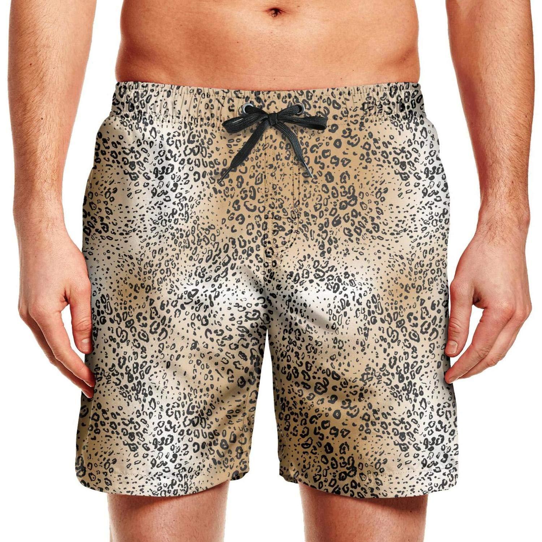 26e02c819d KIENENG Leopard Print Man's Beach Shorts Swimsuits Plus Size Board Shorts    Amazon.com