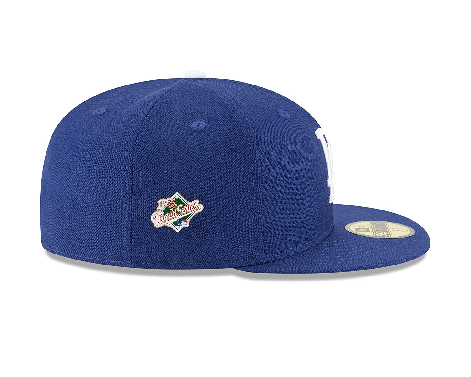 7538b308be72b Amazon.com   New Era Los Angeles Dodgers World Series Pin 1988 Champions  Fitted 59Fifty MLB Hat   Sports   Outdoors