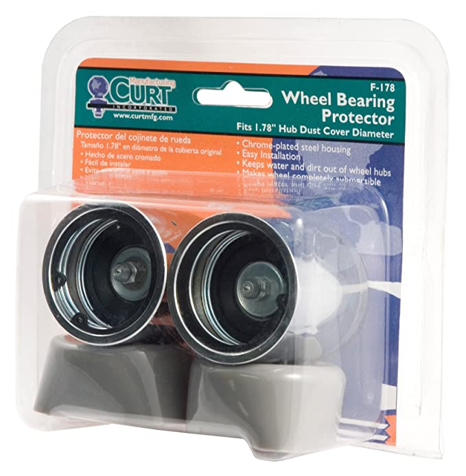 Curt Manufacturing 22178 Bearing Protector 2 Qty Fits 1 7//8 In Packaged
