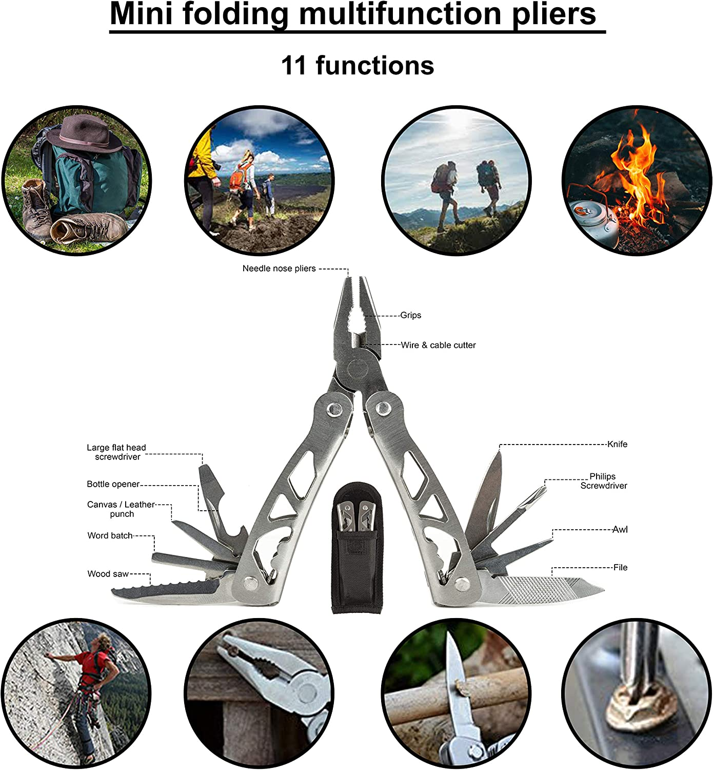 Saber Card Survival Gear for Outdoor MASTER SOS Survival Emergency Kit Headlight Military Knife Hiking and Camping Compass Wire Saw SOS Survival Kit with Emergency Blanket
