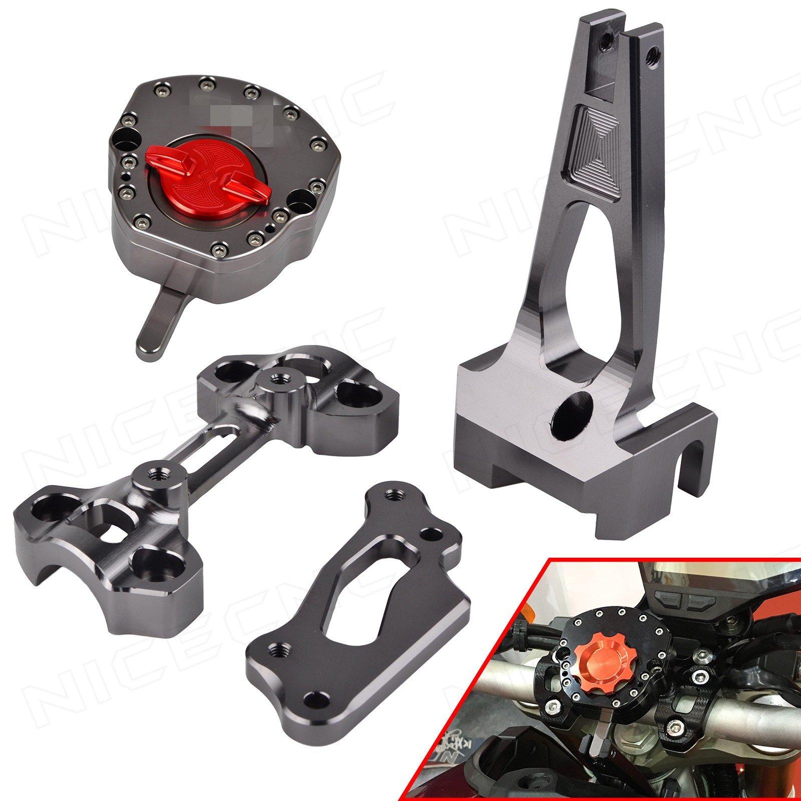 NICECNC Titanium Steering Stabilizer Damper & Mounting Bracket Set for MT09/MT-09 Street Rally FZ09 FZ-09 2014 2015 2016