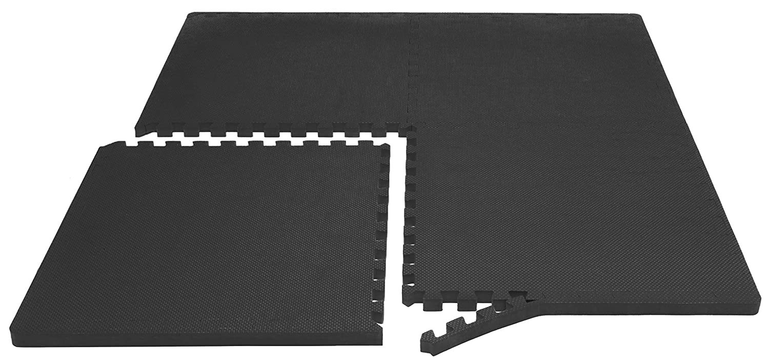 EVA Foam Interlocking Tiles for Protective Prosource Fit Extra Thick Puzzle Exercise Mat 3//4 /& 1 Cushioned Workout Flooring for Home and Gym Equipment ProSource Discounts Inc ps-2997-extp-black
