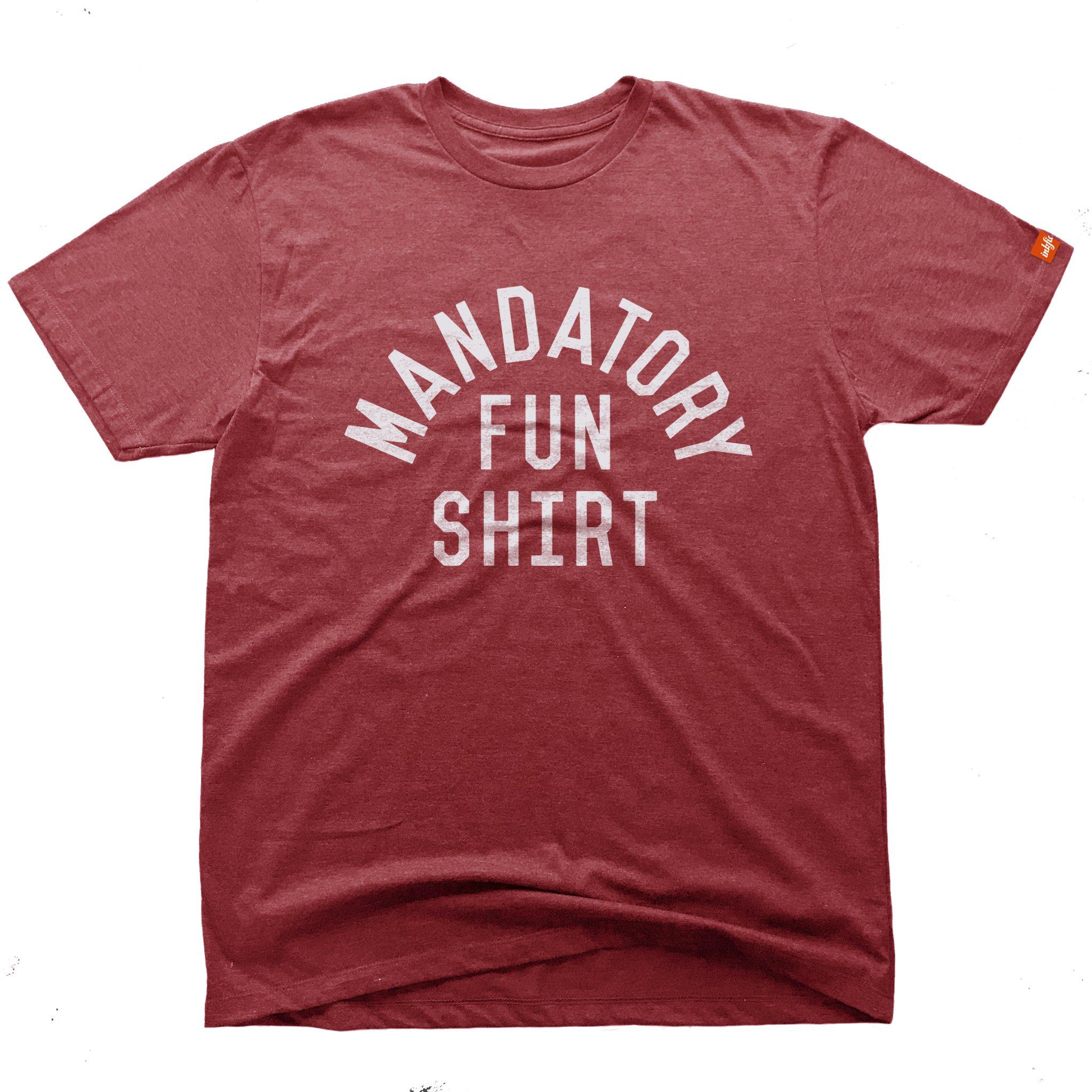 Inkfidel Mandatory Fun Recoil Red Military Graphic T-Shirt Army USMC Marine Veteran Apparel (Large)