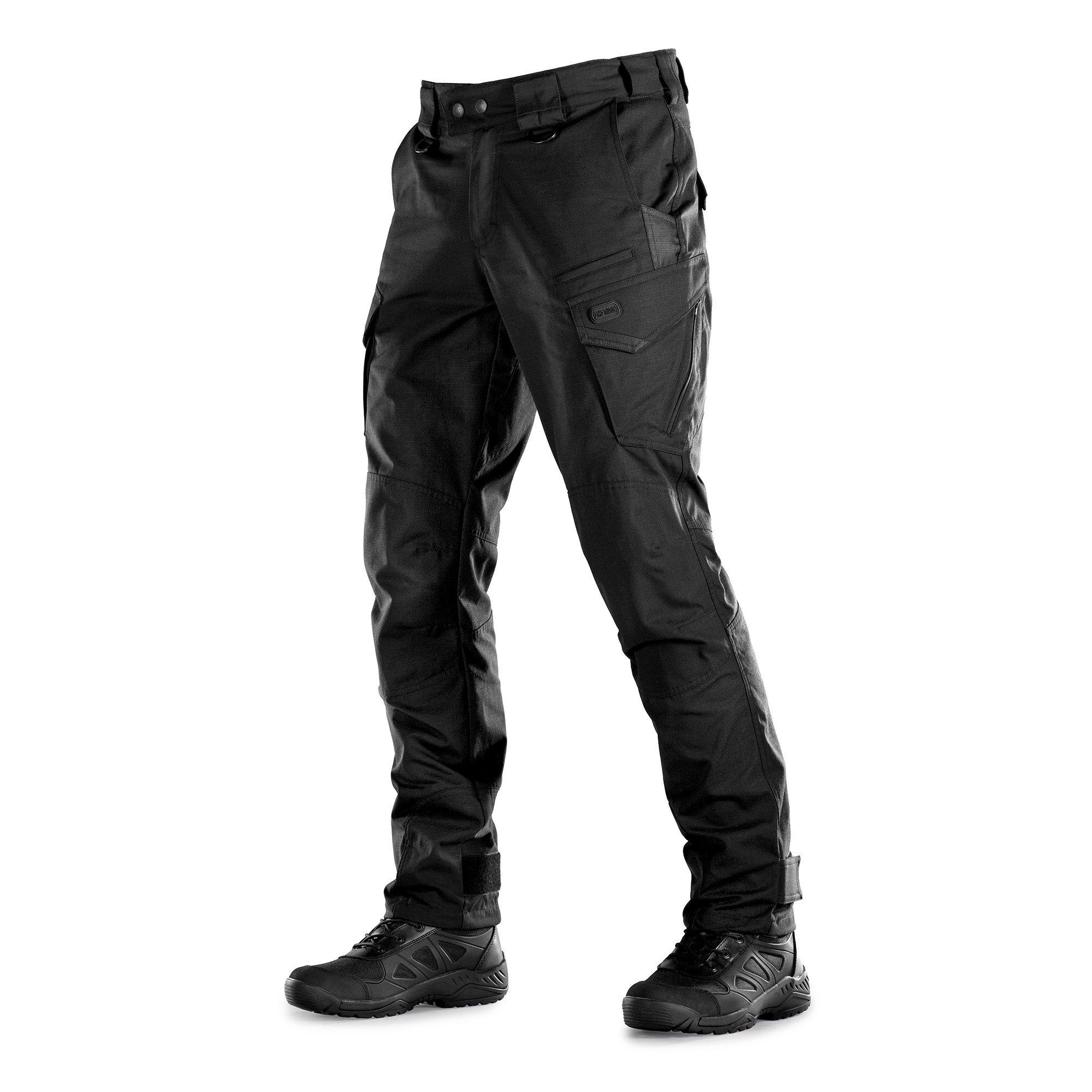 Aggressor Elite Tactical Pants Men Black NYCO with Cargo Pockets (Black, XL/L)