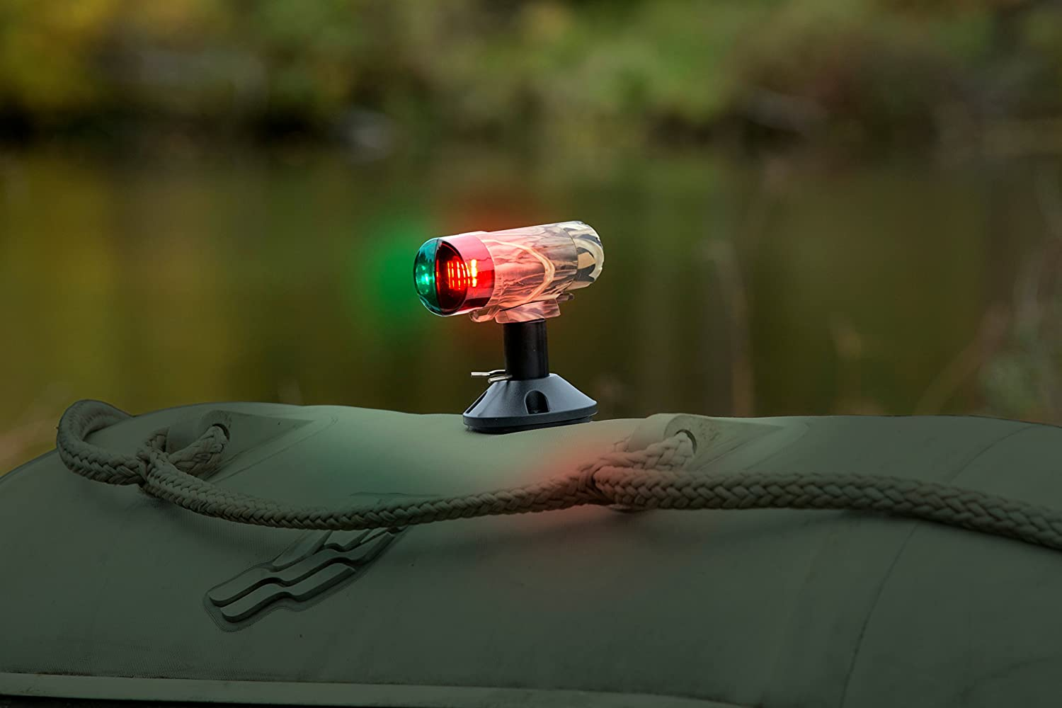 attwood 14193-7 Water-Resistant Deck Mount LED Navigation Light Kit Real Tree Max-4 Camouflage Finish Attwood Marine