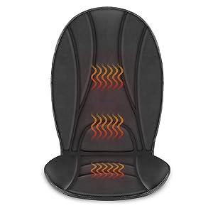 COMFIERHeatedCarSeatCushion-3FastHeatingPadswithAutoShutOff,Adjustable2HeatLevels,CarseatWarmer,SeatHeater,Seatw12VUniversalFitHeatingCarSeatCover