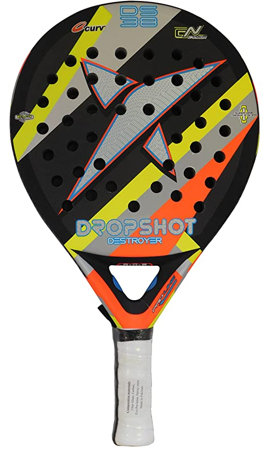 DROP SHOT Destroyer Pala de Pádel, Negro, Talla Única: Amazon.es: Deportes y aire libre
