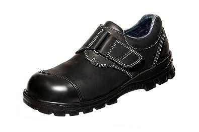 Euro-Dan - Calzado de protección de cuero para hombre negro negro, color negro, talla 49
