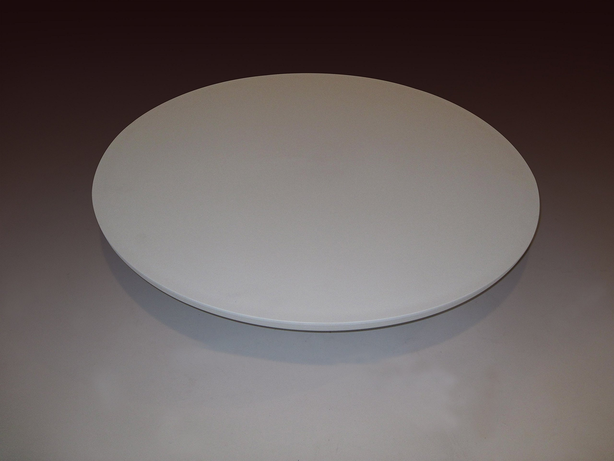 28'' WHITE round commercial grade table top, outdoor/indoor, technopolymer fiberglass reinforced, for restaurant and catering - can be adapted to most leg systems. Heavy Duty