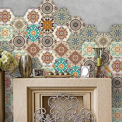 Hexagon Tile Wallpaper Stickers Waterproof Removable Wallpaper