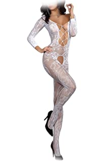 sexy weißer Catsuit